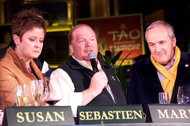 Round 2 of Culinary Clash featuring Mario Batali, Larry Ruvo, ...