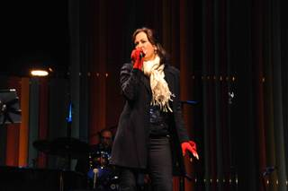 A free holiday concert with Linda Eder in Symphony Park at the Smith Center for the Performing Arts on Sunday, Dec. 9, 2012.