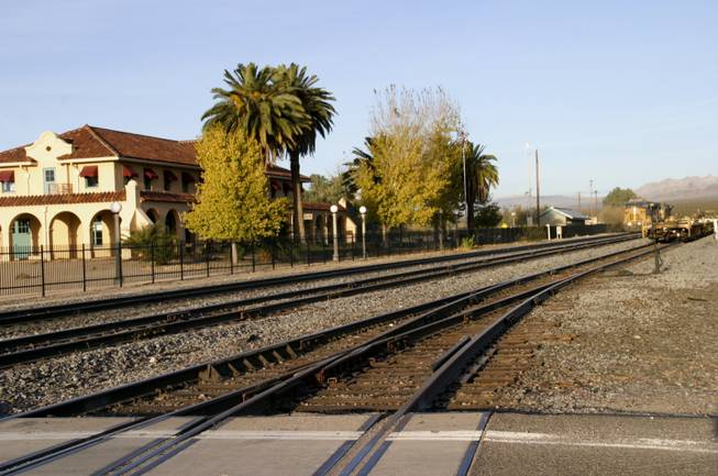 The inactive Kelso Depot train station houses the Mojave National Preserve Visitor Center, Sunday Dec. 9, 2012.