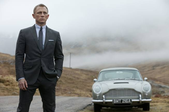 "Daniel Craig stars as James Bond in the action adventure film, ""Skyfall."""