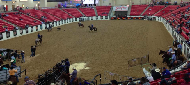 The World Series of Roping finale gets going Monday morning at the The Thomas & Mack Center during the Wrangler National Finals Rodeo competition in Las Vegas.