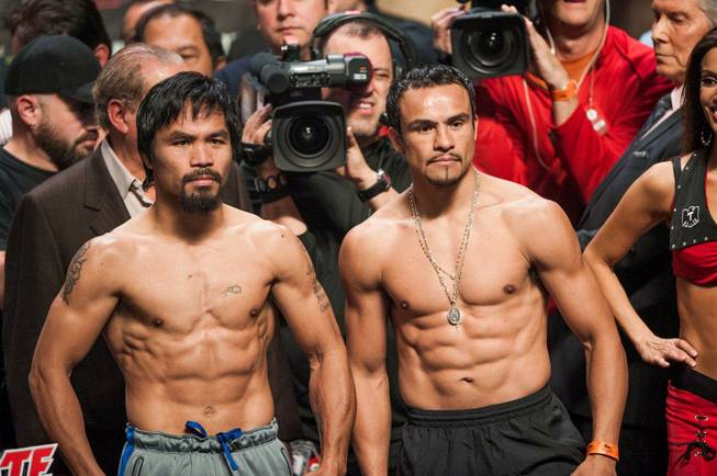 The weigh-in for Manny Pacquiao vs. Juan Manuel Marquez 4 ...