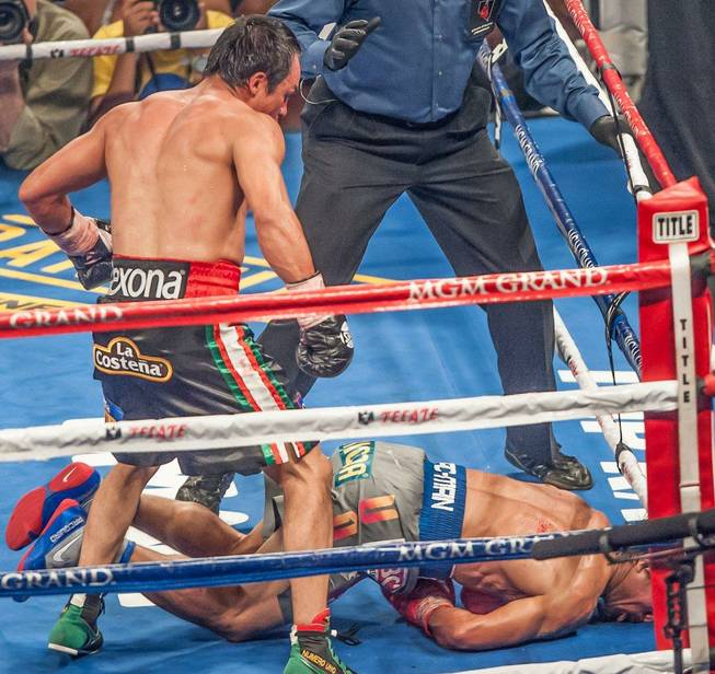 Manny Pacquiao vs. Juan Manuel Marquez at MGM Grand Garden ...