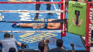 Manny Pacquiao vs. Juan Manuel Marquez at MGM Grand Garden Arena on Saturday, Dec. 8, 2012.