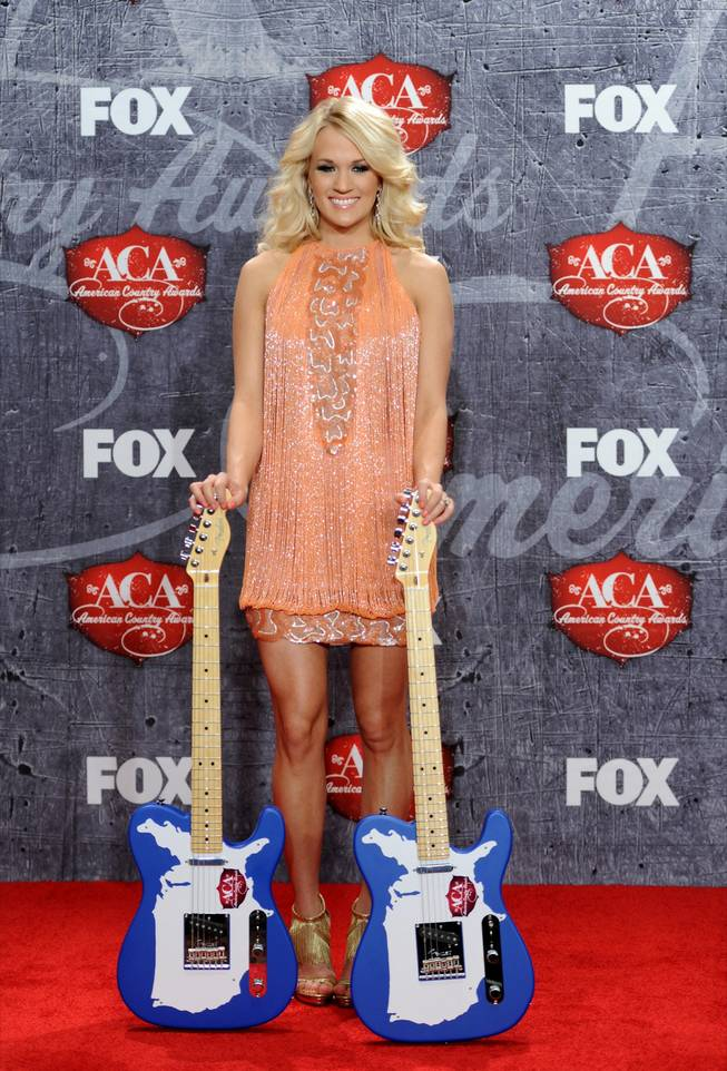 Carrie Underwood at the 2012 American Country Awards at Mandalay Bay on Monday, Dec. 10, 2012.