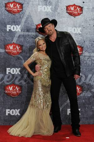 Hosts Kristin Chenoweth and Trace Adkins at the 2012 American Country Awards at Mandalay Bay on Monday, Dec. 10, 2012.