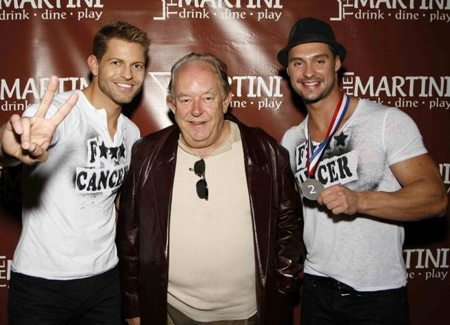 Jaymes Vaughan, Robin Leach and James Davis on Sunday, Dec. 9, 2012.