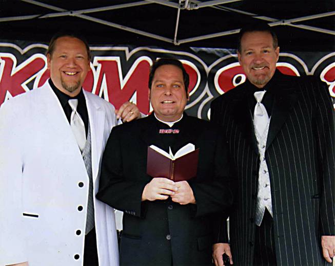 Morning show host Andy Kay obtained his ministry certificate online last year and will be performing part of the 12-12-12 mass wedding ceremony, while co-hosts Craig Williams and Al Miller are serving as the witnesses.