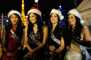 2012 Miss Universe Pageant contestants at Pure in Caesars Palace on Saturday, Dec. 8, 2012.