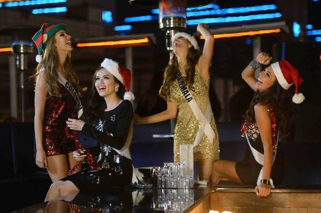 2012 Miss Universe Pageant contestants at Pure in Caesars Palace ...