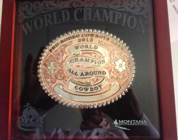 Roper Trevor Brazile, who is now a 10-time all-around world champion, will get the Profession Rodeo Cowboys Association's 2012 buckle.