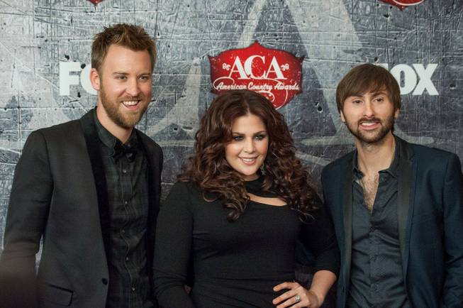 Lady Antebellum on the red carpet of the 2012 American ...