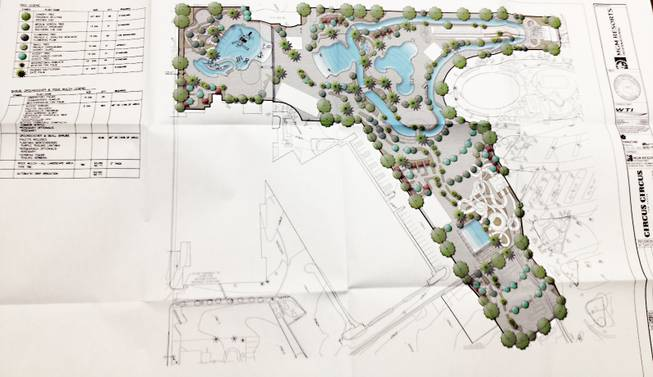 Plans for the Circus Circus Water Park presented on Dec. 12, 2012.