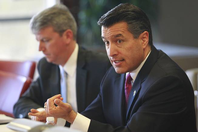 Nevada Gov. Brian Sandoval speaks to the Las Vegas Sun editorial board Wednesday, Dec. 12, 2012.