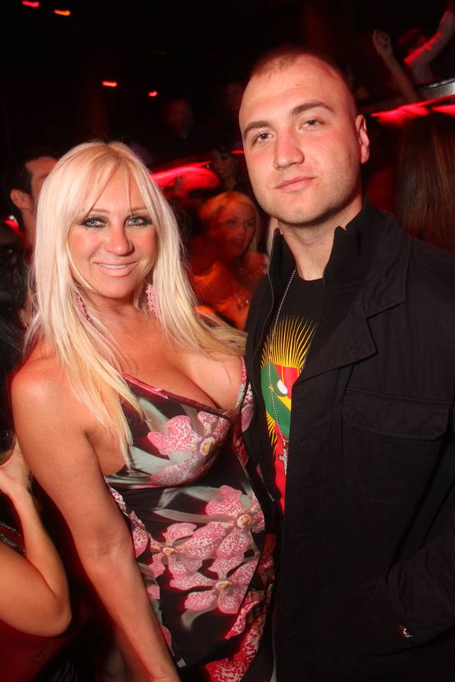 Linda Hogan and her son Nick Hogan at the Bank in the Bellagio.