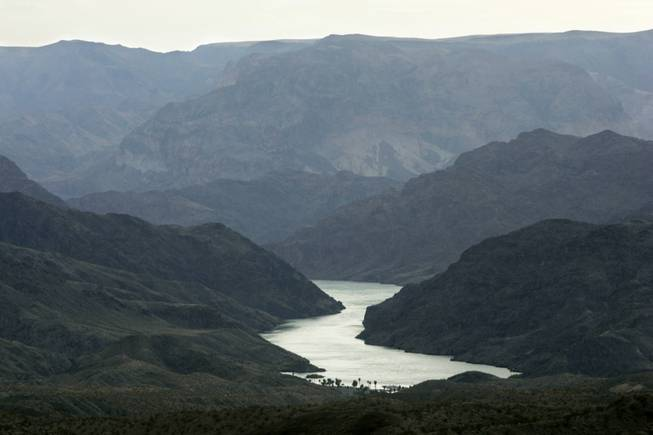 The Colorado River, which is the main source of water for Southern Nevada, winds past Willow Beach, Ariz. Future demands on the river's water supply are projected to far outweigh supply, according to a Department of the Interior study released Dec. 12, 2012.