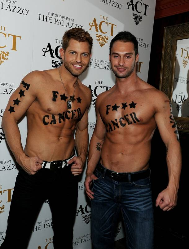 Jaymes Vaughan and James Davis attend the