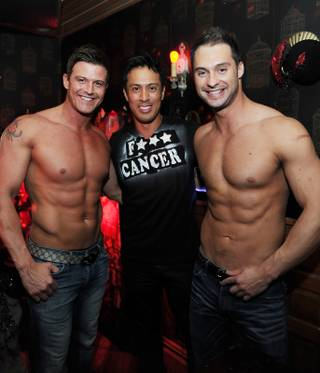 Chippendales headliners Nathan Minor, Bryan Chan and James Davis attend the