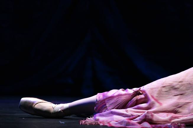 "Sarah Fuhrman performs as Clara during a dress rehearsal for Nevada Ballet Theatre's ""The Nutcracker"" at the Smith Center in Las Vegas on Thursday, December 13, 2012."