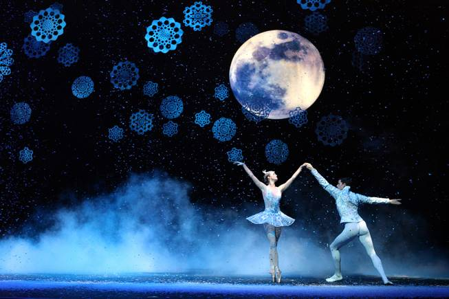 "Steven Goforth and Alissa Dale perform as the Snow Prince and Winter Fairy during a dress rehearsal for Nevada Ballet Theater's ""The Nutcracker"" at the Smith Center on Thursday, Dec. 13, 2012."