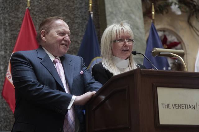 Sheldon Adelson and Miriam Adelson at Salute Our Troops at ...