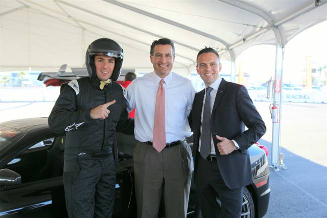 Nevada Gov. Brian Sandoval at Exotics Racing in Las Vegas.