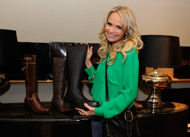Kristin Chenoweth with boots by Bottero.