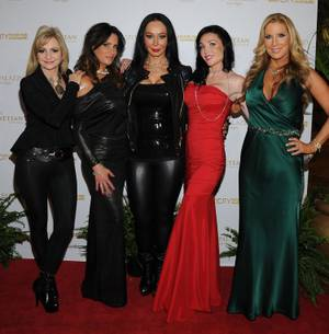 "Jennifer Harman, Lori Montoya, Lana Fuchs, Amy Hanley and Alicia Jacobs of TLC's ""Sin City Rules"" at the Venetian on Sunday, Dec. 9, 2012."