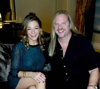Michael Boychuck styles LeAnn Rimes before her concert at LVH on Friday, Dec. 14, 2012.