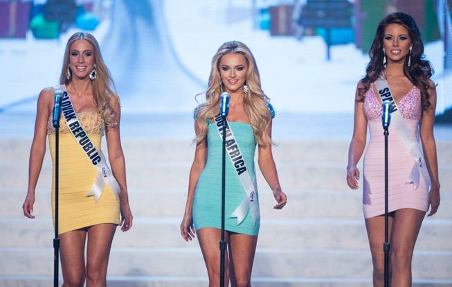 The preliminaries of the 2012 Miss Universe Pageant at Planet ...