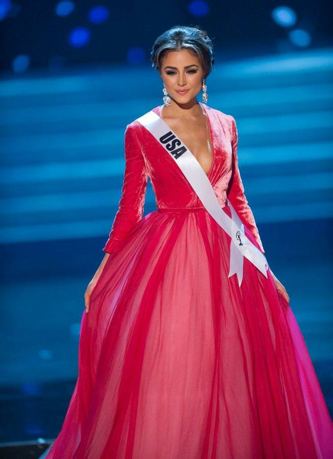 2012 Miss USA Olivia Culpo competes in the preliminaries of the 2012 Miss Universe Pageant at Planet Hollywood on Thursday, Dec. 13, 2012.