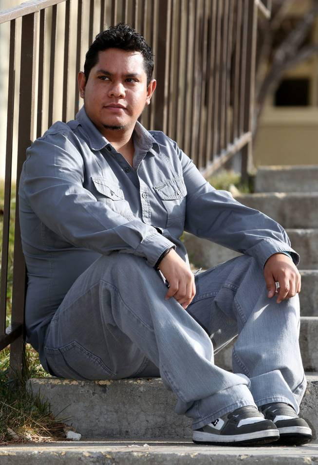 Armando Hernandez, 25, poses at his home in Reno, Nev., on Friday, Dec. 14, 2012. Hernandez, who is undocumented, is suffering from kidney failure and working to become eligible for a kidney transplant.