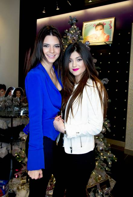 Kendall Jenner and Kylie Jenner visit Kardashian Khaos at the ...