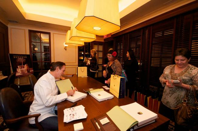 A reception and book signing for Thomas Keller's