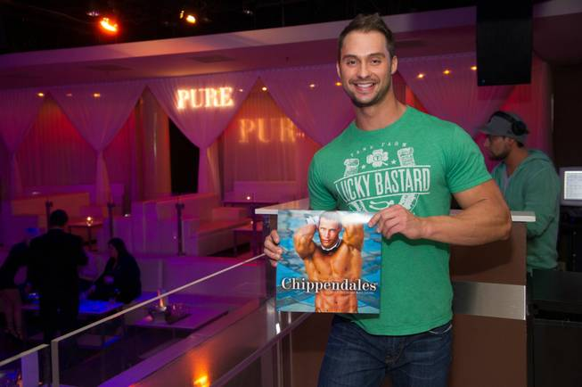 James Davis at the 2013 Chippendales calendar release party at ...