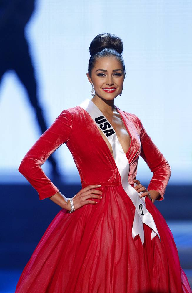 Miss USA Olivia Culpo competes during the 2012 Miss Universe Pageant at Planet Hollywood on Wednesday, Dec. 19, 2012. Culpo was later crowned 2012 Miss Universe.