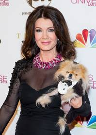 Lisa Vanderpump and Gigi arrive the 2012 Miss Universe Pageant at Planet Hollywood on Wednesday, Dec. 19, 2012.