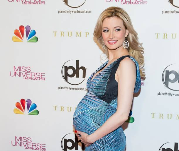 Holly Madison arrives at the 2012 Miss Universe Pageant at Planet Hollywood on Wednesday, Dec. 19, 2012.