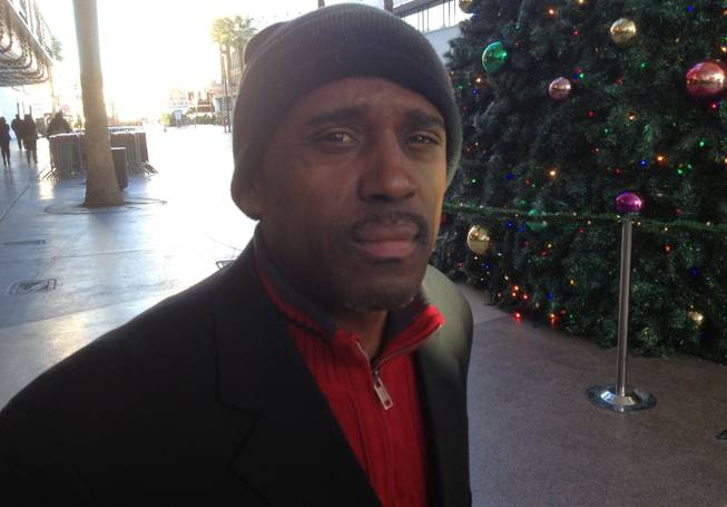 Tony Trim had just move to Las Vegas form Oakland when he was interviewed about the supposed Mayan Apocalypse on Dec. 20, 2012, on Fremont Street in downtown Las Vegas.
