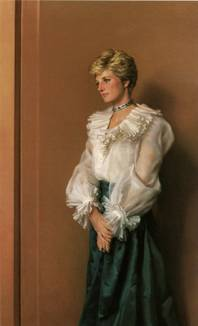 Official Portrait of H.R.H. The Princess of Wales, 1994, by Nelson Shanks.