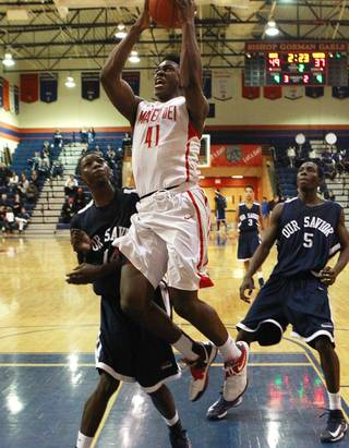 Mater Dei forward Stanley Johnson plays during the inaugural Jerry Tarkanian Classic Thursday, Dec. 20, 2012.