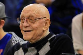 Jerry Tarkanian is seen between games in the inaugural  Jerry Tarkanian Classic Thursday, Dec. 20, 2012.
