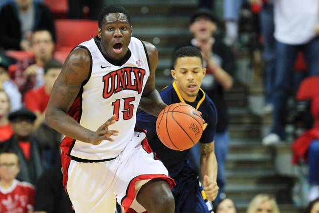 UNLV forward Anthony Bennett takes the ball up court on a fast break against Canisius during their game Saturday, Dec. 22, 2012 at the Thomas & Mack. The Runnin' Rebels won 89-74.