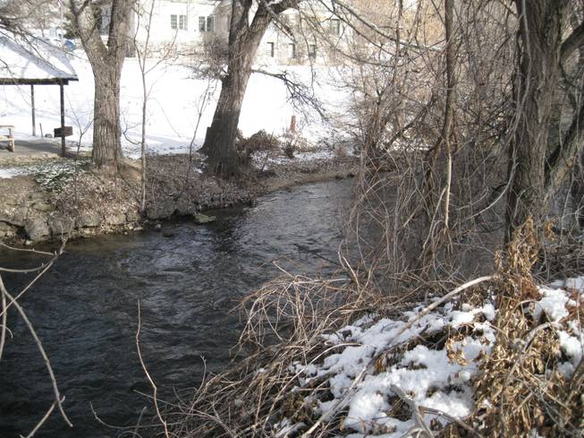 The Portneuf River, as seen from the Lava Hot Springs Inn on Saturday, Dec. 22, 2012.