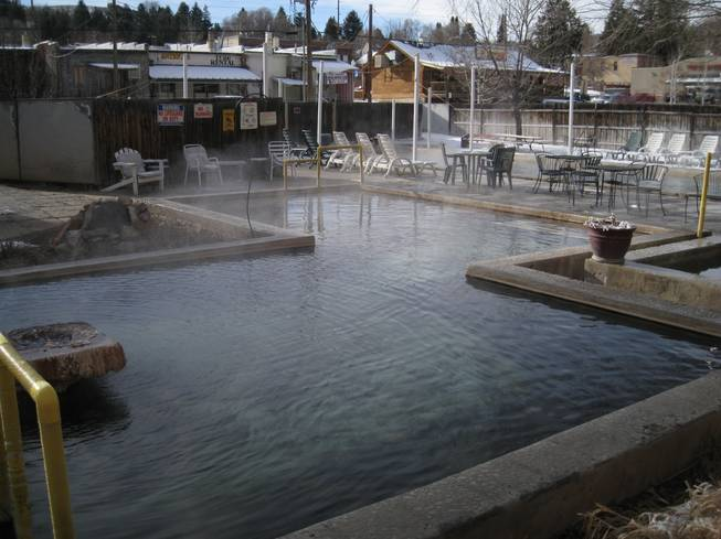 One of the hot pools at Lava Hot Springs Inn, Saturday, Dec. 22, 2012.