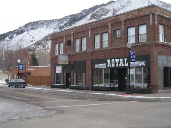 The Royal Hotel on the corner of Center and Main in Lava Hot Springs, Idaho.