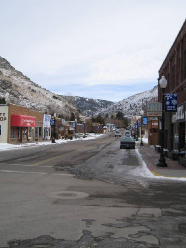 A look down Main Street in Lava Hot Springs, Idaho, Saturday, Dec. 22, 2012.