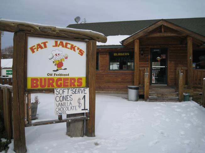 Fat Jack's hamburgers. which is open at times, and closed at others, Saturday, Dec. 22, 2012.