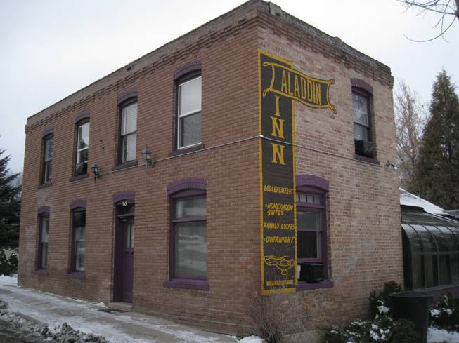 The old Aladdin Inn, which has not been imploded, is one of Dad's buildings.