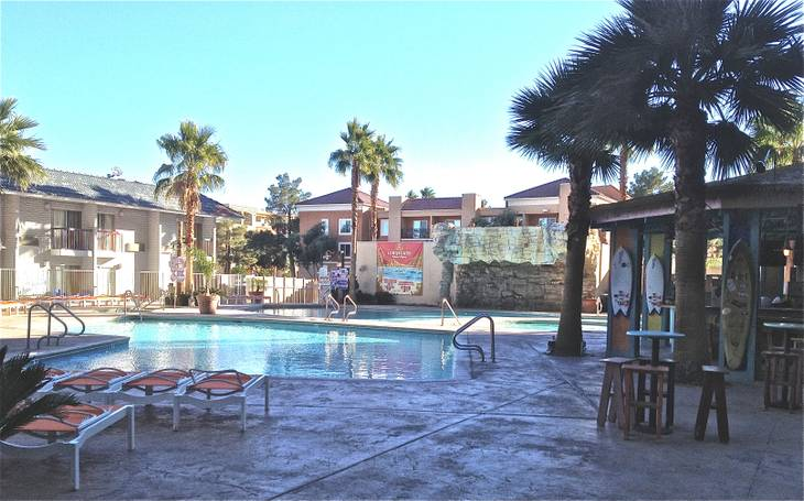 The pool at Hooters, shown here Dec. 19, 2012 is getting a makeover.  The new day club design will break ground in January and is set to open March 1, 2013.